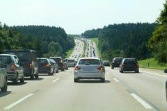 дорога хайвея автомобиля Стоковое Изображение