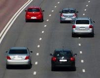 дорога хайвея автомобиля Стоковые Изображения RF