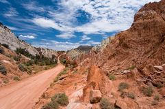 дорога хлопока каньона стоковые фото