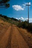 дорога холма к Стоковые Изображения