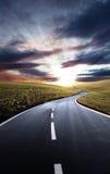 дорога холмов к Стоковое Изображение RF