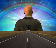 дорога человека к бесплатная иллюстрация