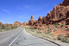 Дорога через гиганты Стоковые Фото