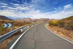 Дорога через горы Gran Canaria Стоковое Изображение RF