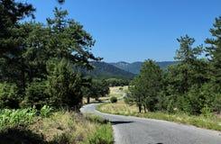 Дорога через долину Стоковые Изображения RF