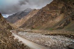 Дорога через западный Тибет Стоковое Изображение