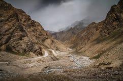 Дорога через западный Тибет Стоковое Фото