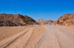 Дорога через песок стоковое изображение