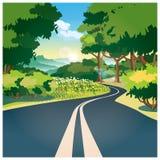 Дорога через древесины бесплатная иллюстрация