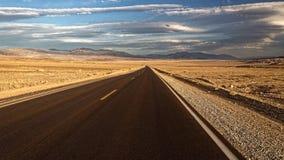 Дорога через Death Valley Стоковые Изображения RF