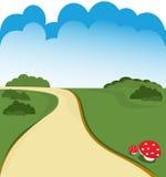 дорога шаржа Стоковое Изображение RF