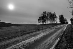 Дорога шутихи (HDR B&W) Стоковые Фото