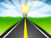 дорога энергии будущая к иллюстрация вектора