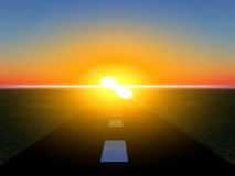 Дорога 17 Sun Стоковые Изображения RF