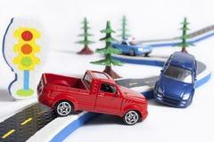 дорога 2 автомобилей аварии Стоковое Фото