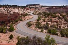 дорога 211 canyonlands к Стоковое Изображение