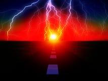 Дорога 42 Sun Стоковое фото RF
