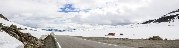 Дорога Aurland в Норвегии Стоковое фото RF