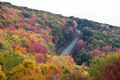 Дорога Cherohala Skyway Стоковое фото RF
