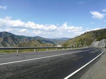 Дорога Chike Taman Respublika Altai стоковое изображение