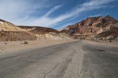 Дорога Death Valley привода художника Стоковые Фотографии RF