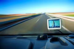дорога gps стоковое изображение