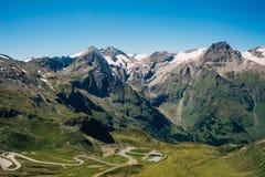 Дорога Grossglockner высокая высокогорная, Австрия стоковые фотографии rf