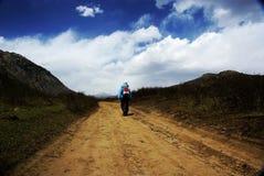 дорога hiker Стоковое Изображение RF