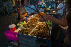 Дорога Khao Сан, Бангкок, Таиланд Стоковые Изображения RF