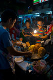 Дорога Khao Сан, Бангкок, Таиланд Стоковое фото RF