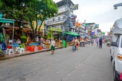 Дорога Khao Сан в Бангкоке, Таиланде Стоковое Фото