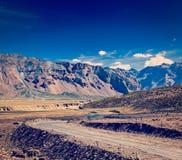 Дорога Manali-Leh стоковое изображение