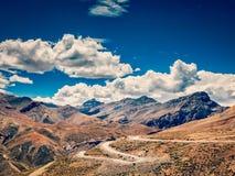 Дорога Manali-Leh, Ladakh, Индия стоковое изображение rf