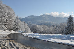дорога mounain Стоковое Изображение RF