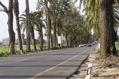 Дорога Pardes Ганы Benyamina Стоковая Фотография