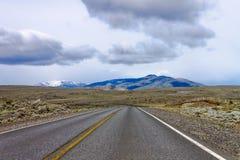 дорога patagonia Аргентины Стоковое Изображение