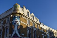 Дорога Portobello архитектуры Лондона стоковое изображение