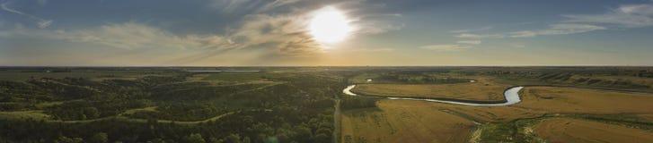 Дорога River Valley Стоковое Изображение