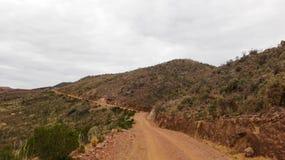 Дорога Sandy в сельской местности стоковые изображения rf