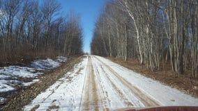 Дорога Snowy от пляжа стоковая фотография