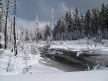 Дорога Snowy Стоковые Изображения