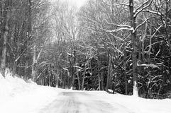 Дорога Snowy Стоковое Фото