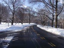 Дорога Snowy Стоковые Фотографии RF