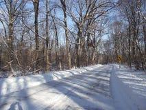 Дорога Snowy Стоковое Изображение RF