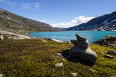 Дорога Strynefjellet в Норвегии Стоковые Изображения