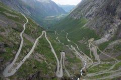 Дорога Trollstigen в Норвегии Стоковое фото RF