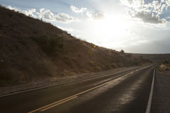 Дорога VF захода солнца Стоковое фото RF