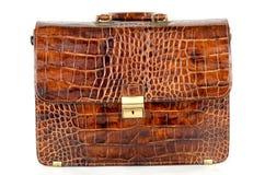 дорогий портфеля коричневый Стоковая Фотография