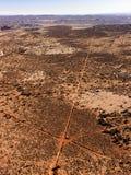 дороги воздушной грязи пересекая Стоковые Изображения