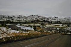 Дороги вокруг снега Стоковое Фото